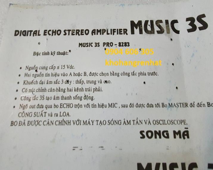Mạch music 3s 4 nút vặn