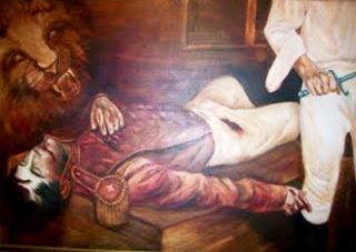 Momento en que José María Córdova falleció