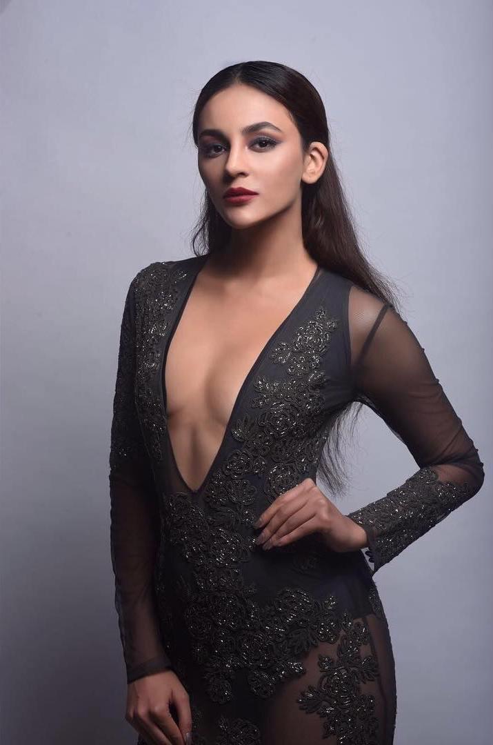 Bollywood Celebrities Spicy Photo Shoot In Blue Dress Seerat Kapoor