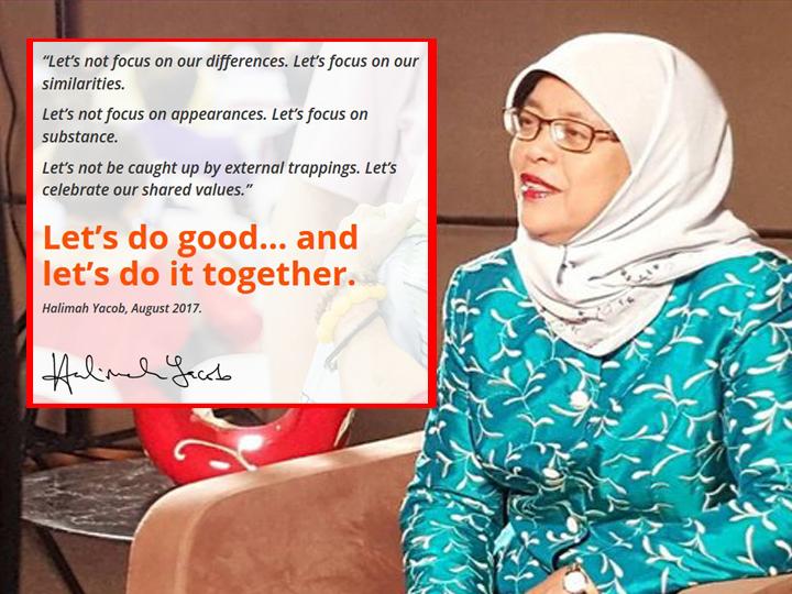 PE2017: Halimah Yacob Unveils 'Do Good Do Together' Election Campaign Slogan
