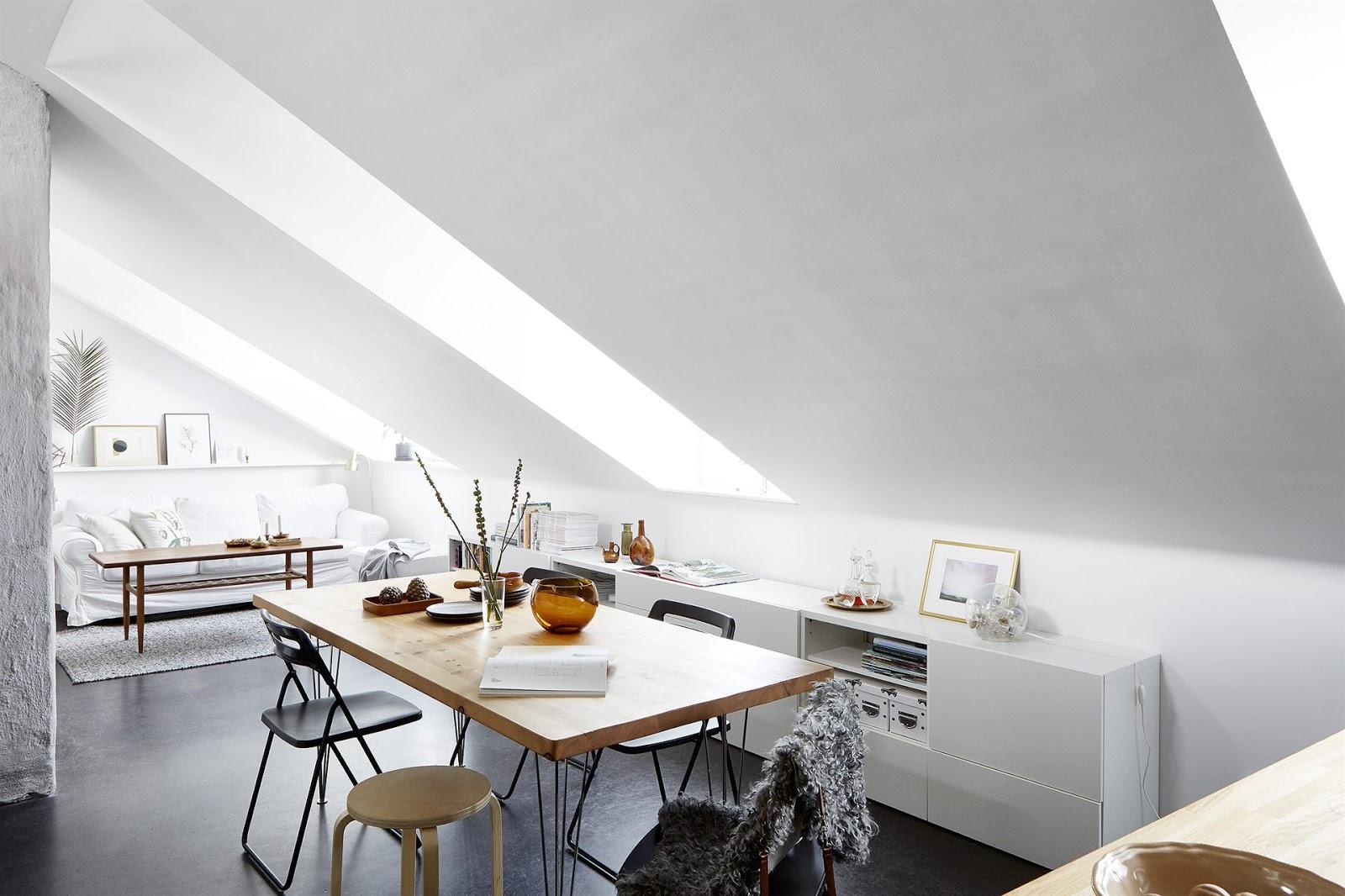 Small stylish attic studio in stockholm daily dream decor for Attic design studio