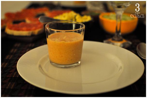 mesa posta gazpacho