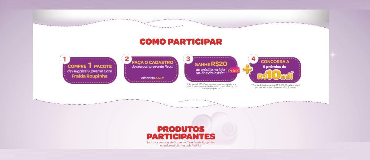 Participar Promoção Huggies Novembro 2020 Guarda Roupinha - 5 Prêmios Valor 10 Mil Reais