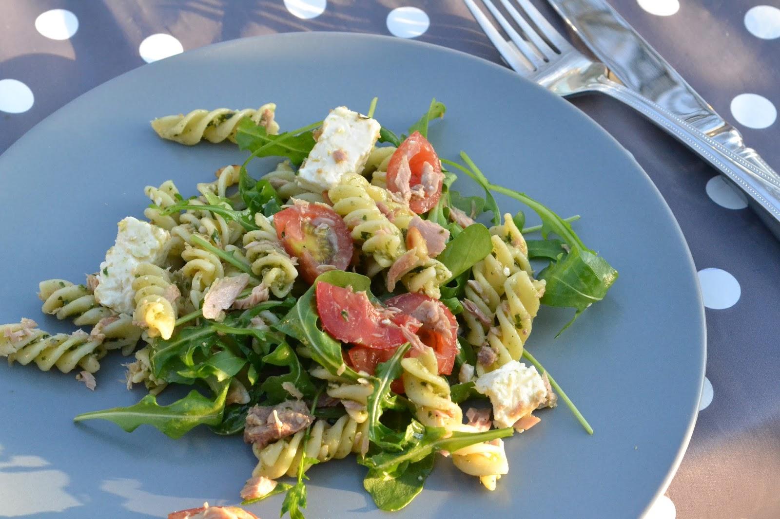 pastasalade pesto tonijn