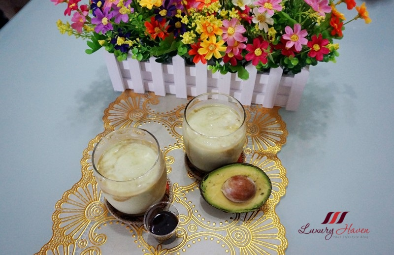 yummy avocado shake with gula melaka recipe