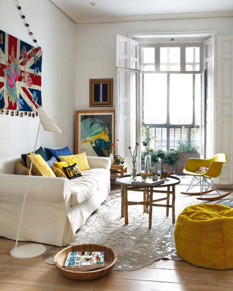 Living Room Designs Funny Colorful Living Room Decorating: Apartamento Colorful En Madrid....