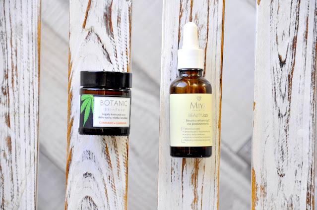 serum do twarzy z witaminą c miya cosmetics beauty.lab, bogaty krem pod oczy botanic skinfood cannabis guarana
