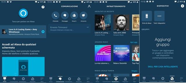 amazon alexa screenshot applicazione