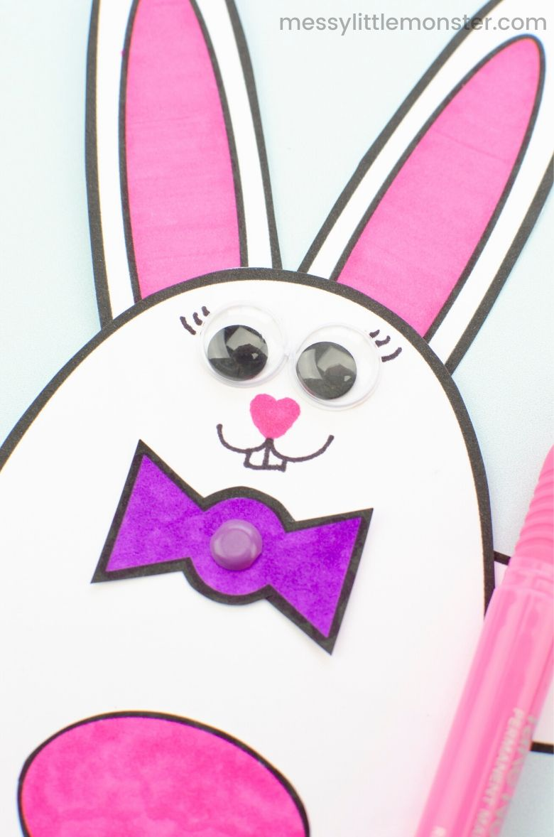 Moving bunny Easter craft for kids