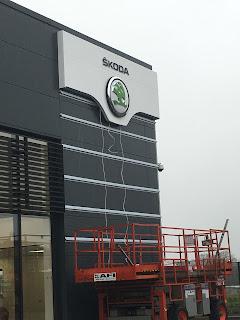 skoda showroom outside building 3