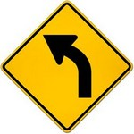 left curve ahead in spanish
