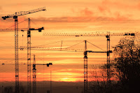 picture of construction cranes