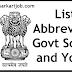 Abbreviations of Govt Schemes and Yojanas