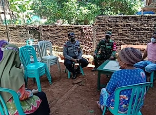 Babinsa Tengguli Ajak Bhabinkamtibmas, Bides dan Satgas Desa laksanakan Tracing