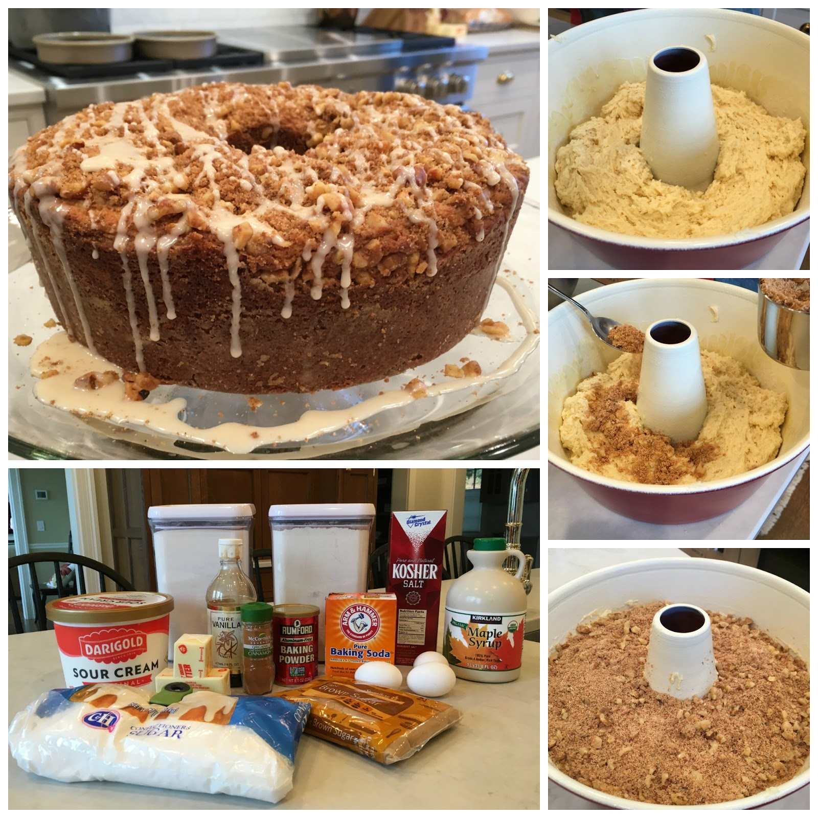 Sour Cream Coffee Cake - Sweet Little Bluebird