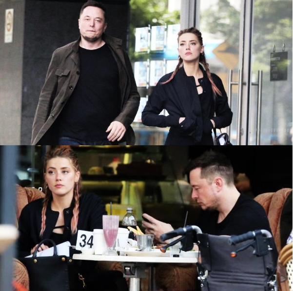 Amber Heard and Elon Musk dating romance