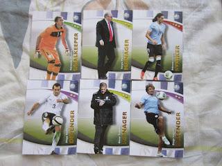 Futera series 4 Russia World Cup series 2018 cards Uruguay England Belgium Brazil France Sweden Croatia Suarez Neymar Kompany