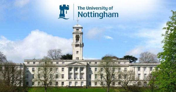 منحة مقدمة من جامعة نوتنغهام لدراسة الماجستير و الدكتوراه فيبريطانيا (ممولة بالكامل)
