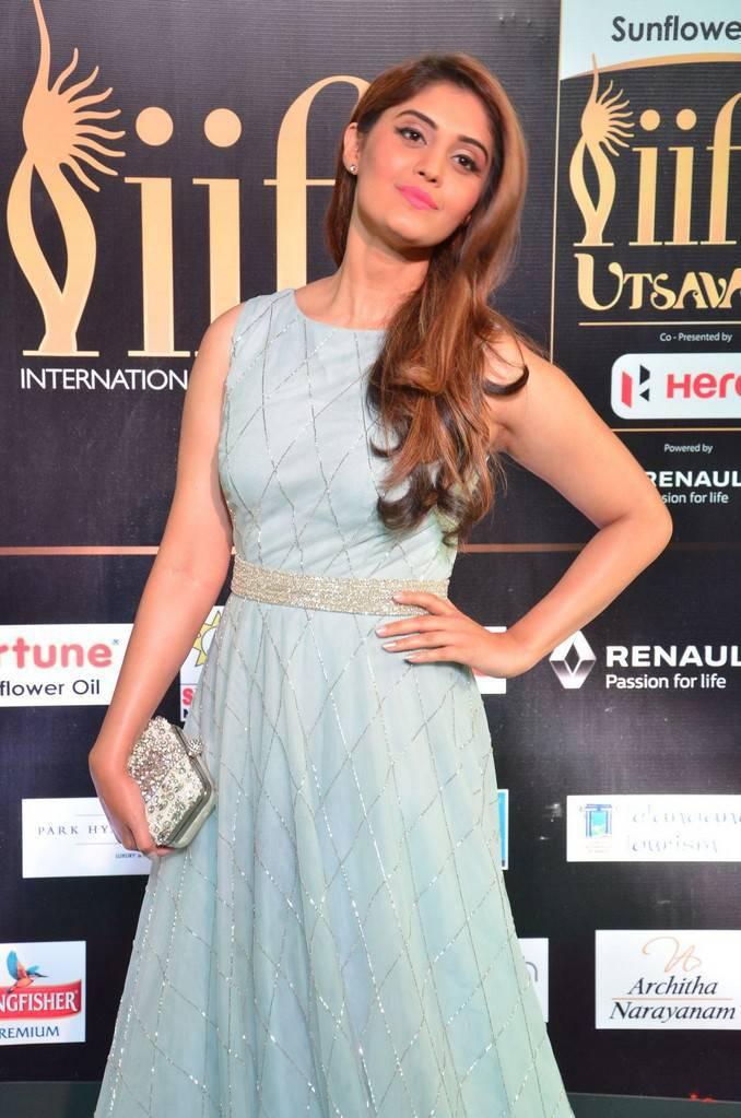 Tollywood Actress Surabhi At IIFA Awards 2017 In Blue Dress