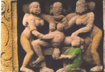 Birth giving pregnant medieval women