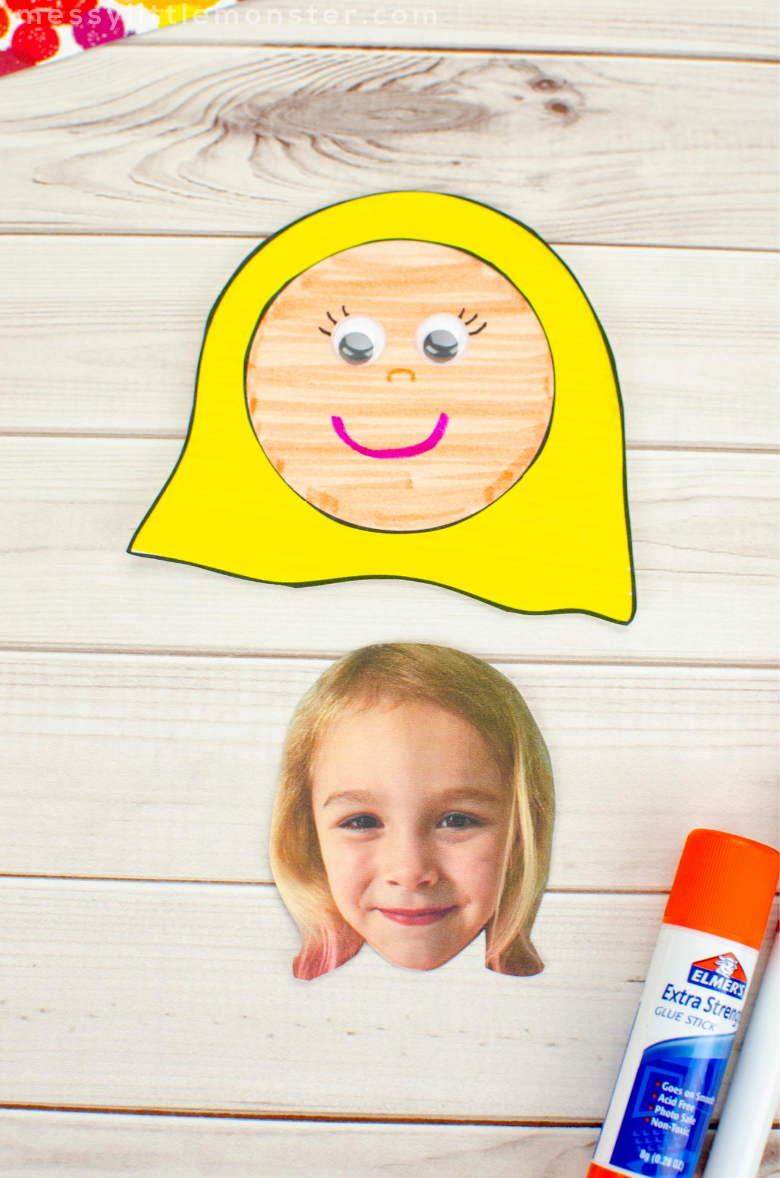 self portrait craft with template
