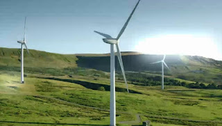Wind turbines in Lancashire