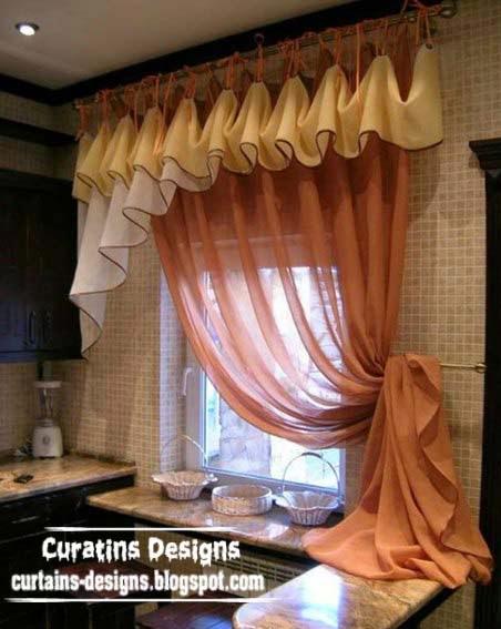 Unique Curtain Designs For Kitchen Windows Kitchen