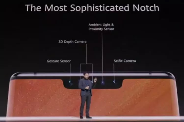 Huawei Mate 30 Pro's Notch Houses Multiple Sensors