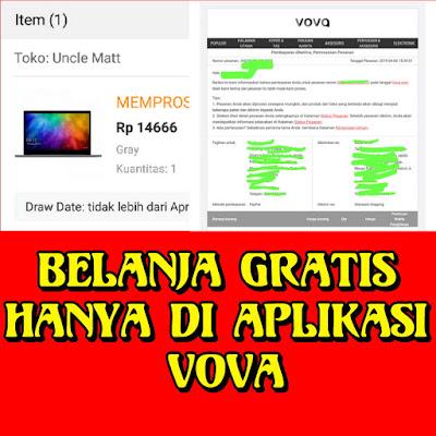 Cara belanja gratis di aplikasi vova, tanpa kendala work 2019