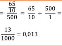 Jawaban - Berat 500 butir kristal gula adalah 6,5 gram. Berapakah berat rata-rata tiap butir kristal gula tersebut?