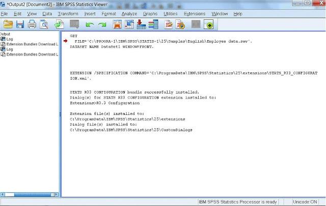 Tampilan IBM SPSS 25 Full versi