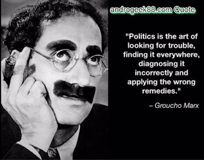 Politics is the art of looking for trouble, finding it everywhere, misdiagnosing it, and applying the wrong remedies.