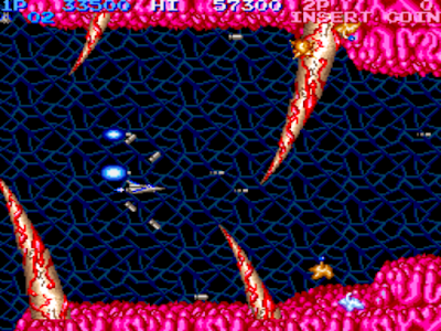 街機:沙羅曼蛇(Salamander)+作弊Cheat碼,經典宇宙巡航艦續作!