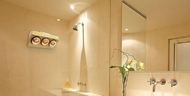 Cách lắp đèn sưởi hồng ngoại nhà tắm an toàn khoa học