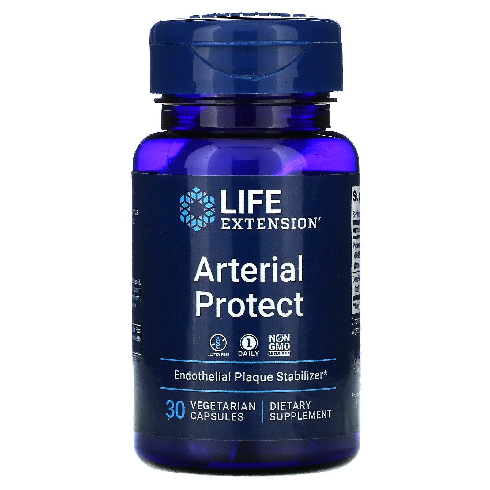 Life Extension, защита артерий, 30 вегетарианских капсул