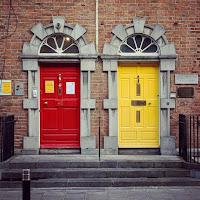 Pictures of Ireland: Red and yellow doors in Kilkenny