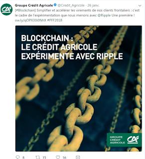 Crédit Agricole blockchain