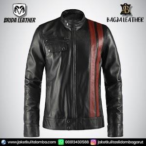 Jual Jaket Kulit Asli Garut Pria Domba Original Brida Leather B24   WA 08813430588