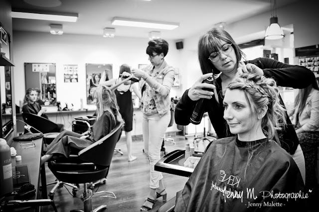 reportage photo préparatifs de la mariée, coiffeur l'orphée à beaulieu sous la roche