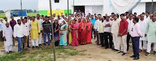 बीआरसी बक्शा पर प्राथमिक शिक्षक संघ ने दिया धरना  | #NayaSaberaNetwork
