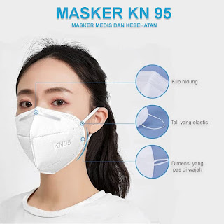 MASKER KN95 GUOYUE ASLI 5PLY Face Mask KN-95 EARLOOP 5 Ply ORIGINAL