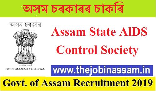 Assam State AlDS Control Society recruitment 2019