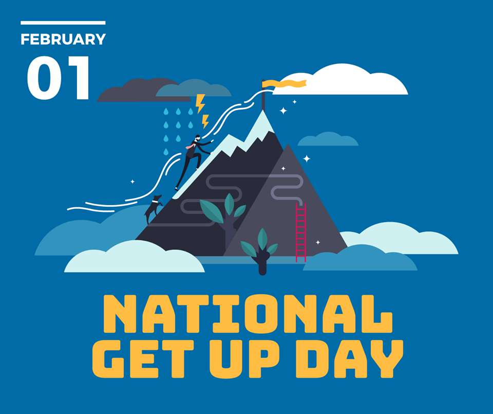 National Get Up Day Wishes Beautiful Image