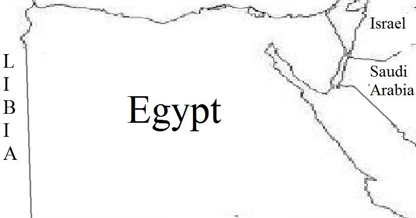 Nile River Valley Project: Egypt on Political Map