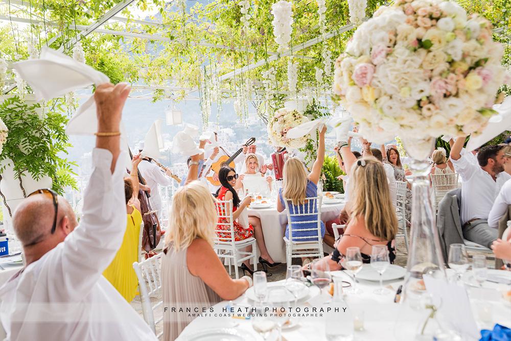 Positano wedding party