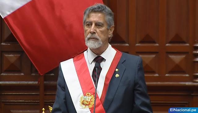 Francisco Sagasti asume la Presidencia de la República