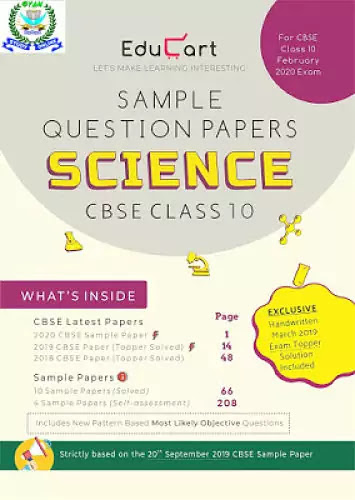 Educart Sample Question Papers free for Class 10 Science Standard 2020