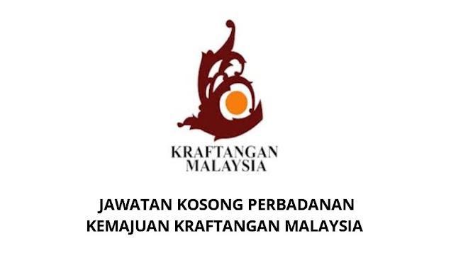 Jawatan Kosong Perbadanan Kemajuan Kraftangan Malaysia 2021