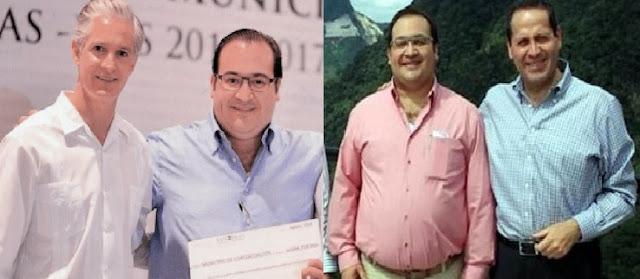 Telcel, celulares, Javier Duarte con Alfredo del MAzo y Eruviel