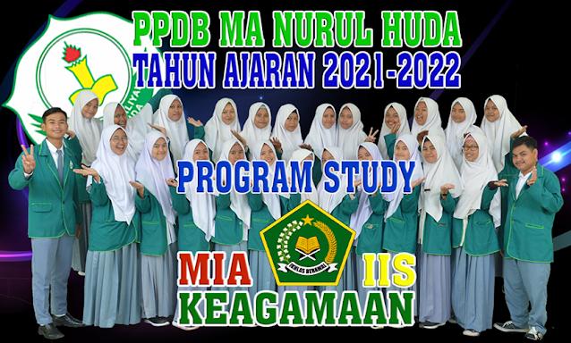 BANER PPDB MA NURUL HUDA TAHUN PELAJARAN 2021-2022